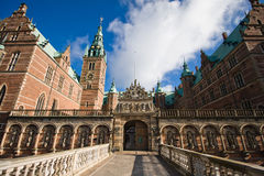 Frederiksborg Castle. Danish: Frederiksborg Slot is a palatial complex in Hillerød, Denmark. It was built as a royal residence for King Christian IV of Denmark Stock Photography