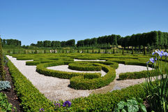 Frederiksborg Castle, Denmark. Park with royal monograms in Frederiksborg Castle, the famous Danish Castle in Hilleroed Stock Image