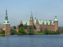 Frederiksborg castle in Hellerod, Denmark. Royal palace in Hellerod, Denmark stock images