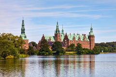 Frederiksborg castle in Hillerod, Royalty Free Stock Photography