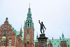 Frederiksborg castle in Hillerod, Denmark Stock Photo
