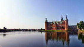 Frederiksborg Castle. On Castle Lake Royalty Free Stock Photos