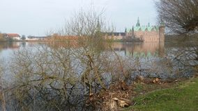 Frederiksborg castle. And lake Stock Photography