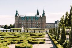 Frederiksborg kasztel z daleka obrazy stock