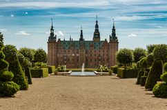 Frederiksborg royal castle, Hillerod, Denmark stock photos