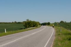 Frederiksborgvej к северу от Farum в Дании Стоковые Фотографии RF
