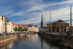 Frederiksholms Canal in Copenhagen Stock Images