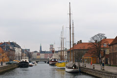 Frederiksholms Kanal in Copenhagen, Denmark. Frederiksholms Kanal in Copenhagen, Denmark in a winter day stock image