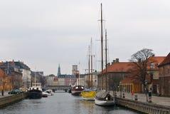 Frederiksholms Kanal en Copenhague, Dinamarca. Imagen de archivo