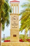 Frederiksted us virgin islands clock tower royalty free stock photography