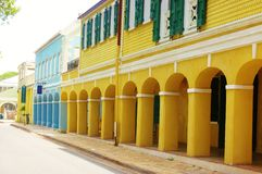 Frederiksted us virgin islands street royalty free stock images