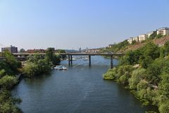 Fredhäll bridge in Stockholm Stock Photos