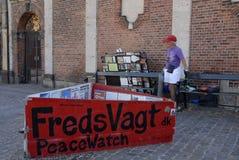 FREDKLOCKA MARKES 5056 DAGAR I DAG fotografering för bildbyråer