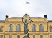 Fredmonument på Karlstad, Sverige royaltyfria foton