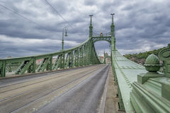 Fredoom bridge in Budapest Royalty Free Stock Photography