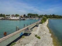 Friedrichshafen harbor on Bodensee lake, Germany stock photo