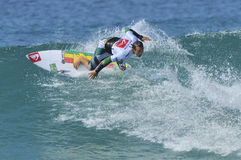 Fredrick Patacchia. Surfing the Quicksilver Pro France 2011 Stock Image