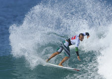 Fredrick Patacchia. Surfing the Quicksilver Pro France 2011 Royalty Free Stock Image