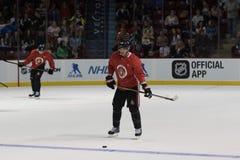 Fredrik Claesson skates in Ottawa Senators Practice royalty free stock photography