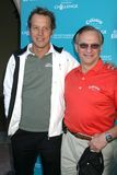 Fredrik Jacobsen und George-Gefährten an der Callaway Golf-Grundlagen-Herausforderung, die Unterhaltungsindustrie-Grundlagen-Krebs Stockbild