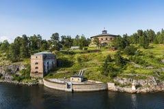 Fredriksborg fästningStockholm skärgård Royaltyfria Bilder