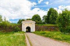Fredrikshamn brama StAnna korony forteca Zdjęcia Royalty Free