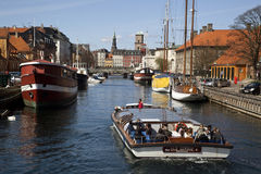 Fredriksholms Kana. Copenhaga, Dinamarca. Fotos de Stock