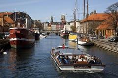 Fredriksholms Kana. Kopenhagen, Denemarken. Stock Foto's