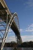 Fredrikstad Brücke lizenzfreie stockbilder