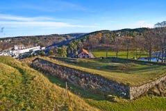 Fredriksten堡垒外面设防 库存图片