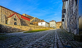 Fredriksten堡垒的庭院 免版税图库摄影