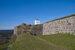 Fredriksten Festung in Halden (über König) Stockbilder