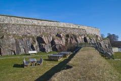 Fredriksten Festung in Halden (Außenseitenbereich) Lizenzfreies Stockfoto