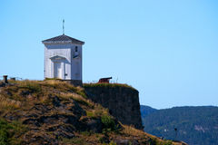 Fredriksten fort, cannon and watch tower Royalty Free Stock Image
