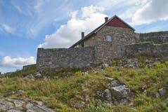 Fredriksten forteca (rockowy wierzchu fort) Obrazy Stock