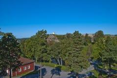 Fredriksten forteca (widok główny forteca) Zdjęcia Stock