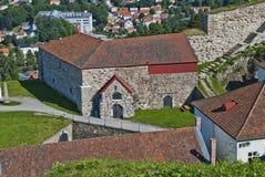 Fredriksten forteca (wielcy powderhouses) Zdjęcia Royalty Free