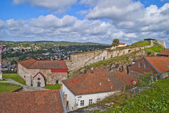 Fredriksten forteca (wielcy powderhouses) Zdjęcie Royalty Free