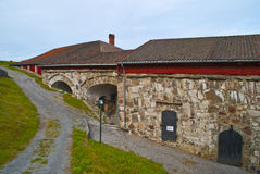 Fredriksten fortress (bakery and brewery) Stock Images