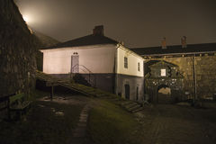 At fredriksten fortress in the fog and darkness Royalty Free Stock Photography