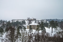 Fredriksten fortress, fortification (Winter Scene) Royalty Free Stock Image
