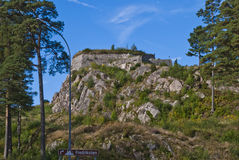 Fredriksten fortress (golden lion fort) Stock Images