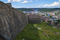 Fredriksten fortress in halden Stock Photos