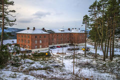 Fredriksten fortress in halden, barracks Royalty Free Stock Images