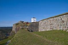 Fredriksten fortress in Halden (over king) Stock Images
