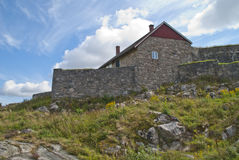 Fredriksten fortress (upper rock fort) Stock Images