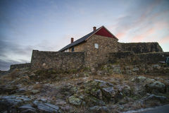 Fredriksten fortress (upper rock fort) Royalty Free Stock Photo