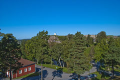 Fredriksten fortress (view to the main fortress) Stock Photos