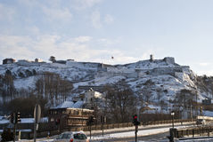 Fredriksten fortress in the winter. Fortress in Halden is beautiful in the winter Royalty Free Stock Images