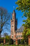 Fredslotten - internationell domstol i Haag N Arkivfoton